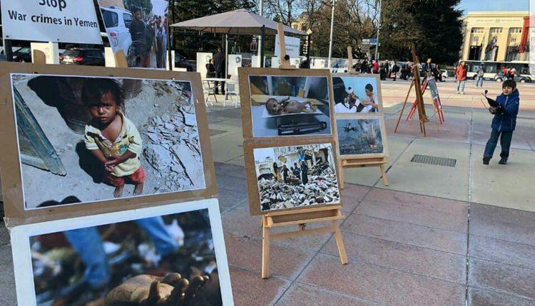 مظلومية الشعب اليمني تبكي المواطنين في سويسرا